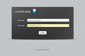 round cube login screen